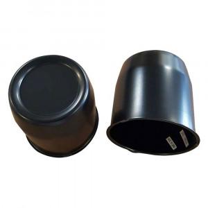 Cache moyeu standard noir diamètre 80mm